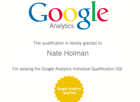 gaiq google analytics certified