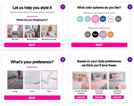 interactive ecommerce content example